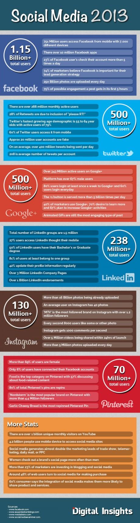 Social Media Stats for 2013